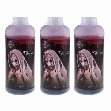 3x flessen nep bloed schmink/make up 1 liter