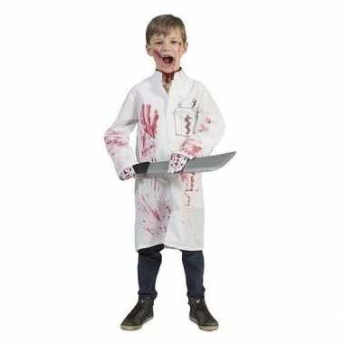 Bebloede doktersjas voor kinderen maat 140