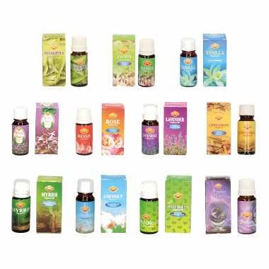 Geur olie?n pakket bestaande uit 11 verschillende geuren flesjes van 10 ml