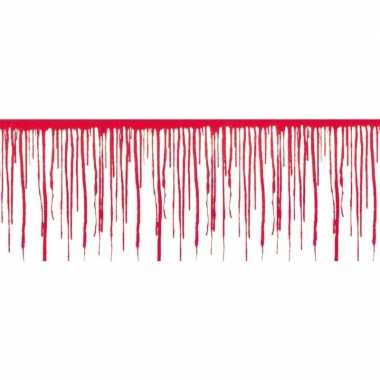 Halloween - 2x halloween wanddecoratie druipend bloed van 6 meter