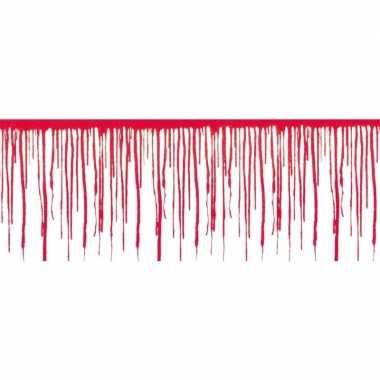 Halloween - 3x halloween wanddecoratie druipend bloed van 6 meter