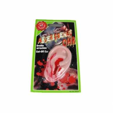 Halloween - afgehakt bebloed nep oor 7cm