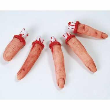 Halloween - afgehakte vingers met bloed