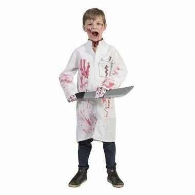 Kinderen Halloween.Halloween Bebloede Doktersjas Voor Kinderen
