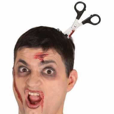 Halloween - bebloede schaar in het hoofd diadeem
