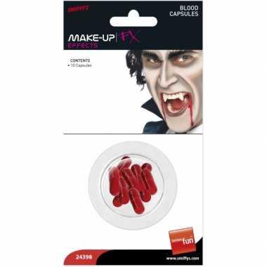 Halloween - bloed capsules 10 stuks