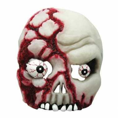 Halloween - bloederig half schedel masker