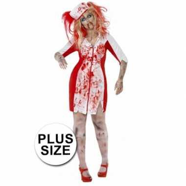 Halloween - grote maten zombie zuster jurkje voor dames