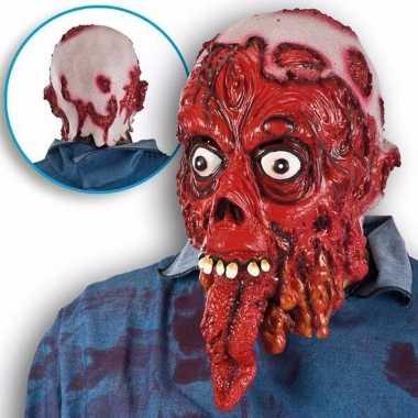 Halloween - halloween bloederig masker met lange tong