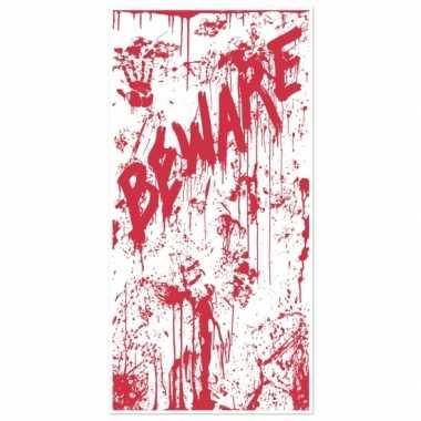 Halloween halloween deurposter met bloed