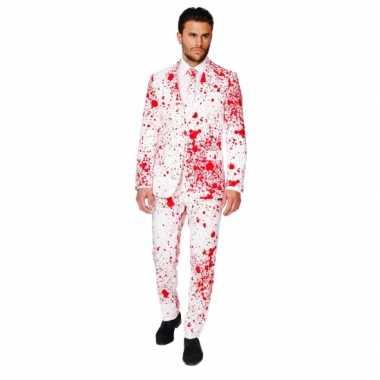 Halloween - halloween heren kostuum met bloedspatten