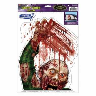Halloween halloween raamsticker zombie met bloed