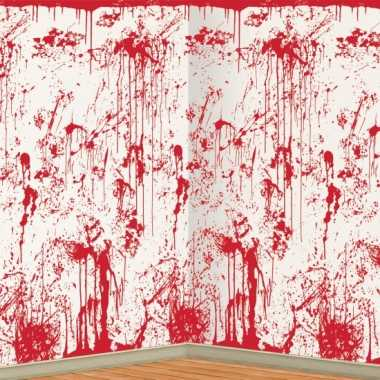 Halloween halloween scenesetter bloederige muur