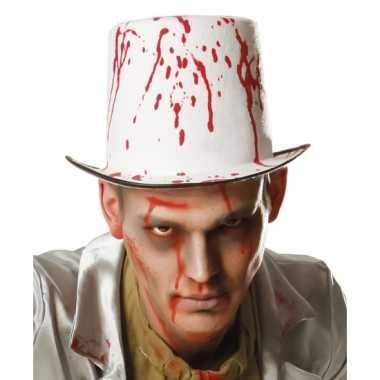 Halloween - hoge hoed met bloedspetters