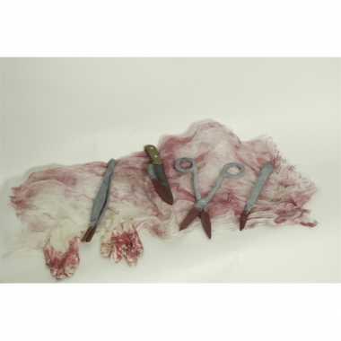 Halloween - horror operatie setje met bloed