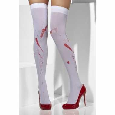 Halloween - kniekousen met bloedvlekken