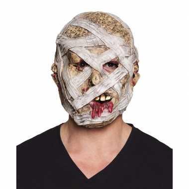 Halloween - latex mummie masker voor volwassenen