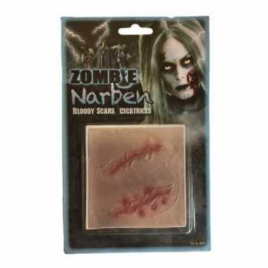 Halloween - latex nep snede littekens 2 stuks