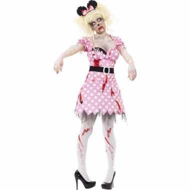 Halloween - roze zombie minnie kostuum voor dames