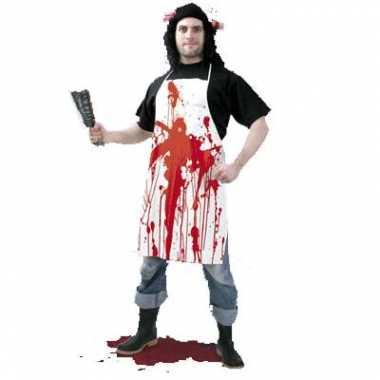 Halloween schort met bloed halloween kostuum