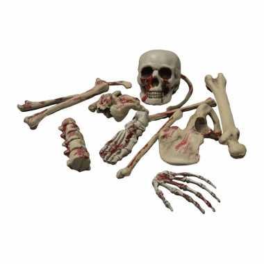 Halloween - skelet botten met bloed