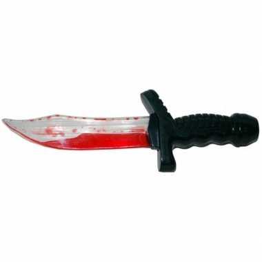 Halloween - speelgoed dolk met bloed 25 cm