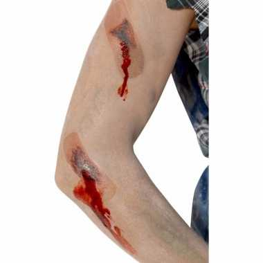Halloween - tattoo nepwonden met pleisters