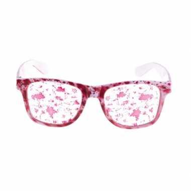 Halloween witte bloederige bril
