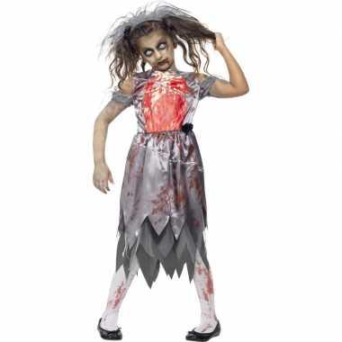 Halloween - zombie bruidsjurk voor meiden