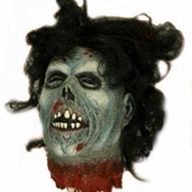 Halloween - zombie hoofd halloween versiering 30 cm