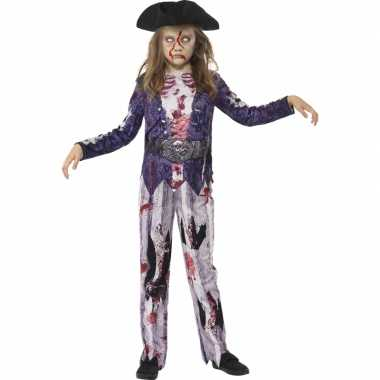 Halloween zombie piraat kostuum voor meiden