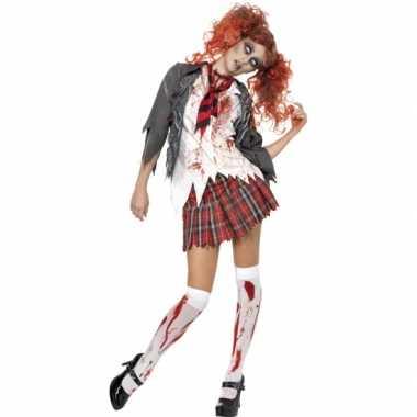 Halloween - zombie schoolmeisje kostuum