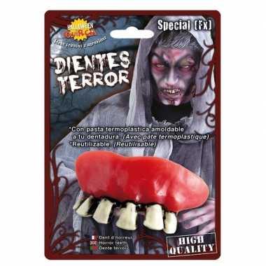 Horror zombie gebit/neptanden halloween accessoire