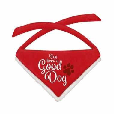 Kerst bandana/sjaaltjes voor grote honden good dog