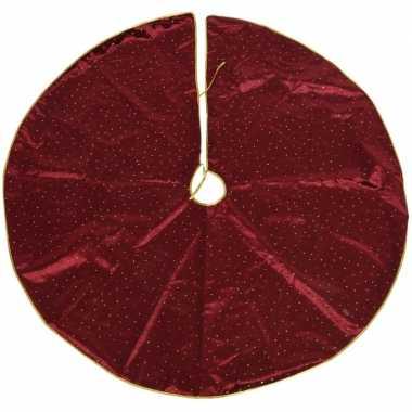 Kerstboomrok/kerstboom kleed velvet rood van stof 120 cm