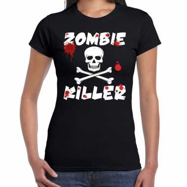 Zombie killer halloween t-shirt zwart dames