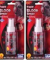 2x vloeibaar nepbloed spray 59 ml