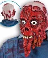 Halloween halloween bloederig masker met lange tong
