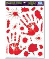 Halloween halloween raamsticker met bloed handen