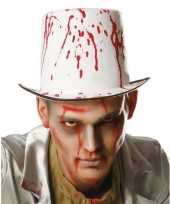 Halloween hoge hoed met bloedspetters