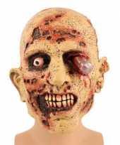 Halloween zombie masker met bloedend oog