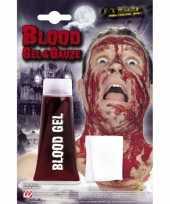 Tube bloed gel met gaasje